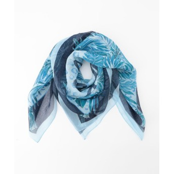 【50%OFF】 エヴェックスバイクリツィア スクエアボタニカルレイヤーストール レディース ブルー X 【EVEX by KRIZIA】 【セール開催中】