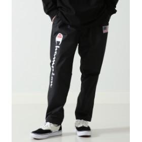 Champion × BEAMS / 別注 ロング パンツ メンズ カジュアルパンツ BLACK S