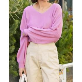 ニット・セーター - Re: EDIT ぽわん袖ニットで上品に華やかに。 カシミヤタッチバルーンスリーブぽわん袖ニットトップス トップス/ニットトップス