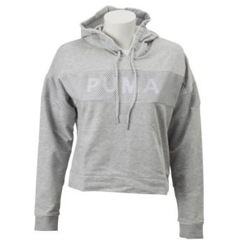 レディース 【PUMA ウェア】 プーマ ウェア W CHASE フーディ 579141 04ライトグレイヘザー