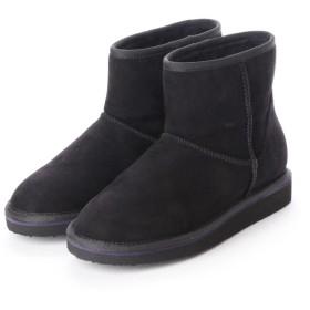 シューズラウンジ shoes lounge 【本革】ショートブーツ 3650004B (ブラック)