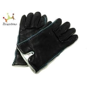 セルモネータグローブス 手袋 6 1/2 レディース 黒×ライトブルー サイズ:6 1/2  値下げ 20190308