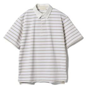 cantate / ラガーシャツ メンズ ポロシャツ WHITE×BEIGE 44