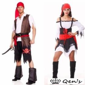 コスプレカップル 男海賊 女海賊 cosplay 衣装 ハロウィン コスチューム 万聖節 コスプレ 大人用 メンズ