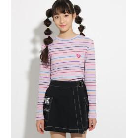 ニット・セーター - PINK-latte マルチボーダー長袖 トップス