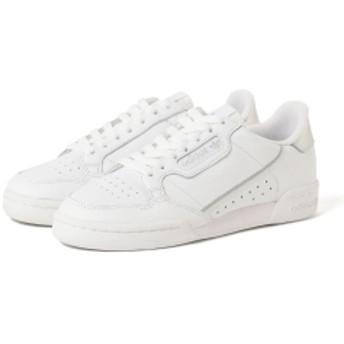 adidas / CONTINENTAL 80 スニーカー● レディース スニーカー ランニングホワイト/シルバーメット 24.5