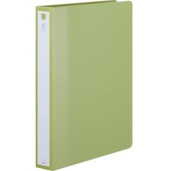 アスクル リングファイル A4タテ 丸型2穴 背幅39mm グリーン 緑 1セット(30冊)