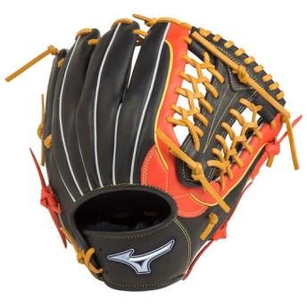 MIZUNO SHOP [ミズノ公式オンラインショップ] ソフトボール用ファンラップef【外野手向け/サイズ14】 0952 ブラック×スプレンディッドオレンジ 1AJGS20507