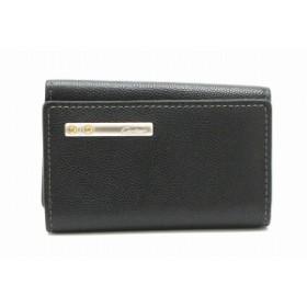 カルティエ サントス ライン 6連キーケース レザー 黒 ブラック シルバー金具 L3000775