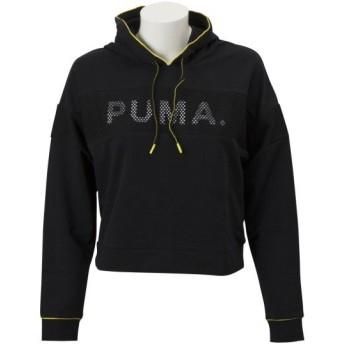 レディース 【PUMA ウェア】 プーマ ウェア W CHASE フーディ 579141 01コットンブラック