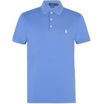《セール開催中》POLO RALPH LAUREN メンズ ポロシャツ ブルーグレー S コットン 97% / ポリウレタン 3%
