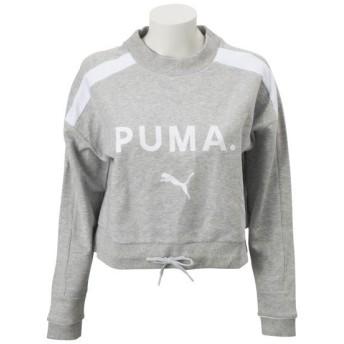 レディース 【PUMA ウェア】 プーマ ウェア W CHASE クルー 579115 04ライトグレイヘザー