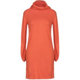《セール開催中》PIERRE BALMAIN レディース ミニワンピース&ドレス オレンジ S/M レーヨン 40% / ナイロン 36% / コットン 10% / 毛(アンゴラ) 7% / カシミヤ 7%