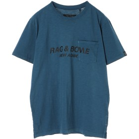 rag & bone rag & bone ラグアンドボーン UPSIDE DOWN TEE Tシャツ・カットソー,ブルー