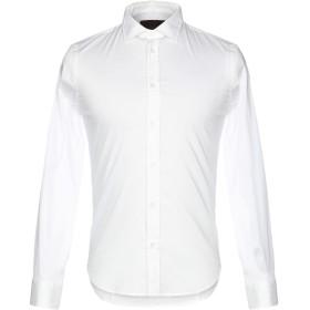 《セール開催中》HSIO メンズ シャツ ホワイト 39 コットン 68% / ナイロン 29% / ポリウレタン 3%