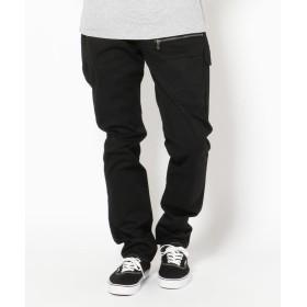 アヴィレックス ストレッチ ドビー 8 ポケットパンツ/STRETCH DOBBY 8 POCKET PANT メンズ BLACK L 【AVIREX】