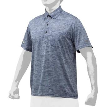 MIZUNO SHOP [ミズノ公式オンラインショップ] 【ミズノプロ】杢ポロシャツ[ユニセックス] 14 ディープネイビー杢 12JC9H34