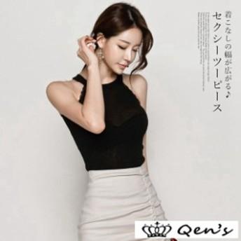 海外 韓国 韓国ファッション パーティードレス 韓国スタイル ノースリーブ シンプル レディース セクシー お呼ばれ 大人 トレンド イベン