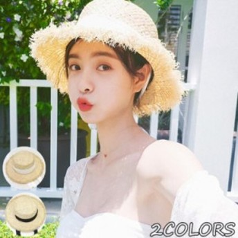帽子 レディース 麦わら帽子 折りたたみ帽子 ハット 紫外線対策 夏 ストローハット uvカット帽子 オシャレ つば広