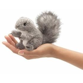 フォークマニス Folkmanis グレーのリス 指人形 フィンガー パペット  並行(未使用の新古品)