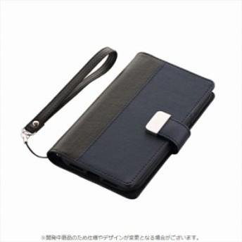 iPhone XR 対応 iPhoneXR 6.1インチモデル ケース 手帳型 上質PUレザーブックケース PREMIER ブック型 二つ折【ブラック】