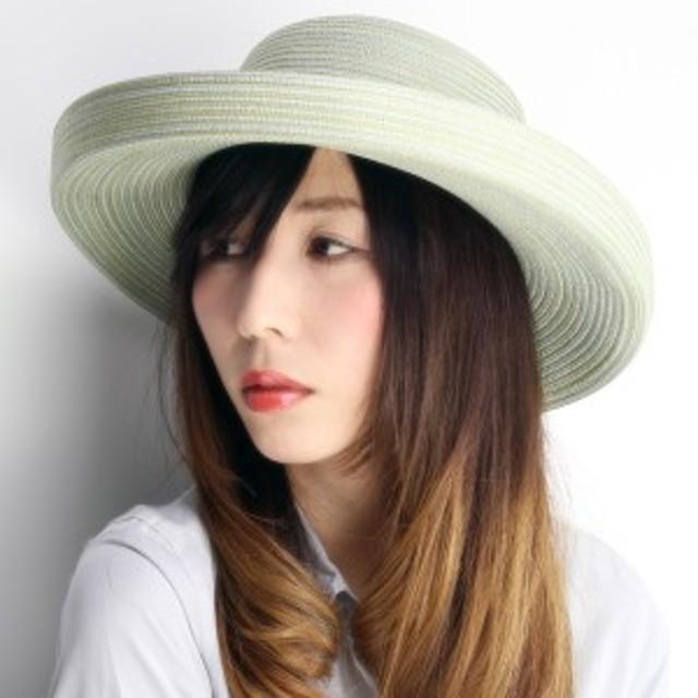 ハット レディース 帽子 セーラー 紫外線カット 小物 UVカットハット 春夏 オリーブ