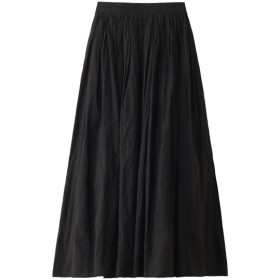 SALE 【50%OFF】 08sircus 08サーカス コンパクトローンギャザーマキシスカート ブラック