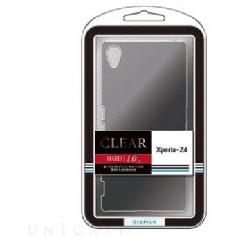 【値下】Xperia Z4 SO-03G エクスペリア ゼットフォー用ケース カバー ハードケース CLEAR HARD クリアブラック LEPLUS LP-XPZ4HGCBK