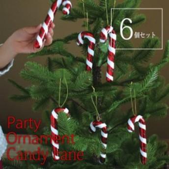 クリスマスオーナメント クリスマス装飾 ツリー装飾 クリスマスパーティーオーナメント キャンディーケイン 6本セット