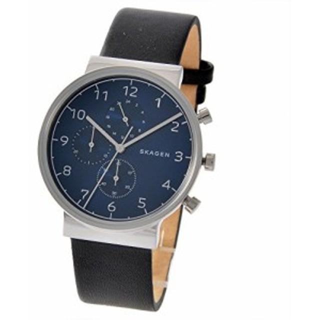 5e3e52a7d7 スカーゲン SKAGEN クロノ クオーツ メンズ 腕時計 SKW6417 ネイビー/ブラ (未使用の新古品