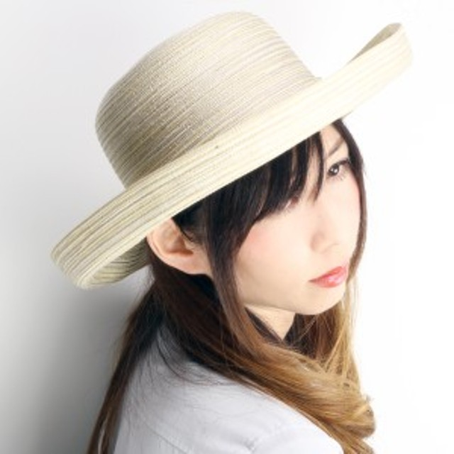セーラーハット レディース 帽子 UPF50+ 女性用 UVカットハット 春夏 ナチュラル 生成