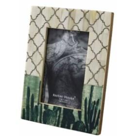 フォトフレーム 写真フレーム 写真立て ボーンフォトフレーム エスニックカクタス ポストカードサイズ サボテン 写真 フレーム 枠 額