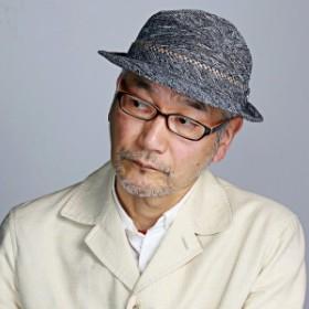 DAKS ダックス 帽子 お洒落 紳士 メンズ ハット 柄 アルペン型 大人 シンプルデザイン 紺
