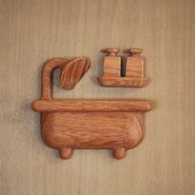 立体バスルームマーク(シャンプー&リンス付き)