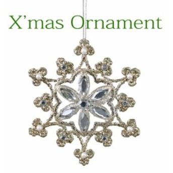 クリスマスオーナメント クリスマス装飾 ツリー飾り クリスマスグリッターオーナメント スノー SNOW CHRISTMAS XMAS
