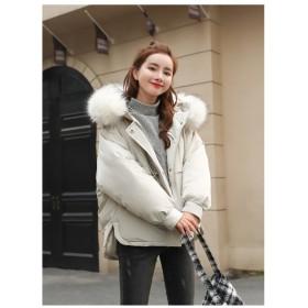 [55555SHOP] 今韓国で大ヒット商品 ヘアリー も柔ら暖かい フード付き ダウンコート ヴィンテージ コットンコート