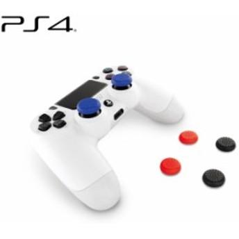 プレイステーション4 PS4 アナログスティックカバー 滑り止め効果で操作感アップ 黒・青・赤の3色セット アローン ALG-P4ASC
