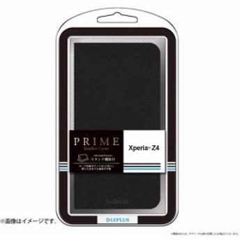 【値下】Xperia Z4 SO-03G エクスペリア ゼットフォー用ケース カバー ブックタイプPUレザーケース PRIME ブラック LEPLUS LP-XPZ4LBK