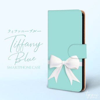 ティファニーブルー 大きなリボン ほぼ全機種対応☆スマホケース iPhone Xperia Galaxy[GL001]