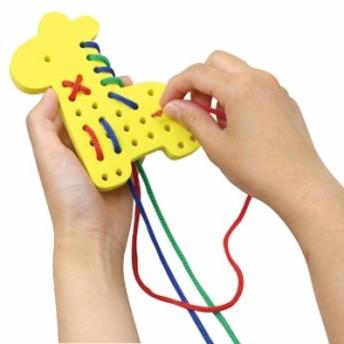 EVA ひもとおし キリン 紐通し 知育玩具 頭の体操 おもちゃ 室内 遊び 学ぶ 学習 動物 アニマル かわいい アーテック 6859