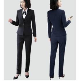 3点セットスーツ ビジネススーツ パンツスーツ 着痩せ 大きいサイズ フォマールスーツ 結婚式 通勤 OL オフィス レディース新作