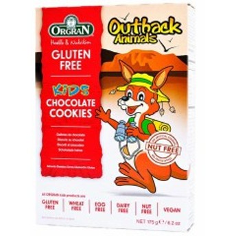 グルテンフリー アニマルチョコレートビスケット 175g 393201 ORGRAN オルグラン食物アレルギー配慮商品 お菓子 おやつ チョコビスケッ