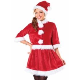 即納 ベイシックサンタ レッド Ladies レディース サンタ クリスマス コスプレ コスチューム 衣装 仮装 クリアストーン 4580136526217