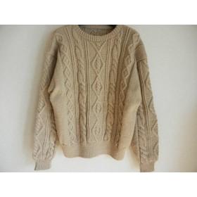 アラン模様のざっくりセーター