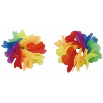 はなの腕輪 大 レインボー 花 フラワー ブレスレット 花輪 運動会 イベント 衣装 小道具 競技 遊戯 ダンス アーテック 3078
