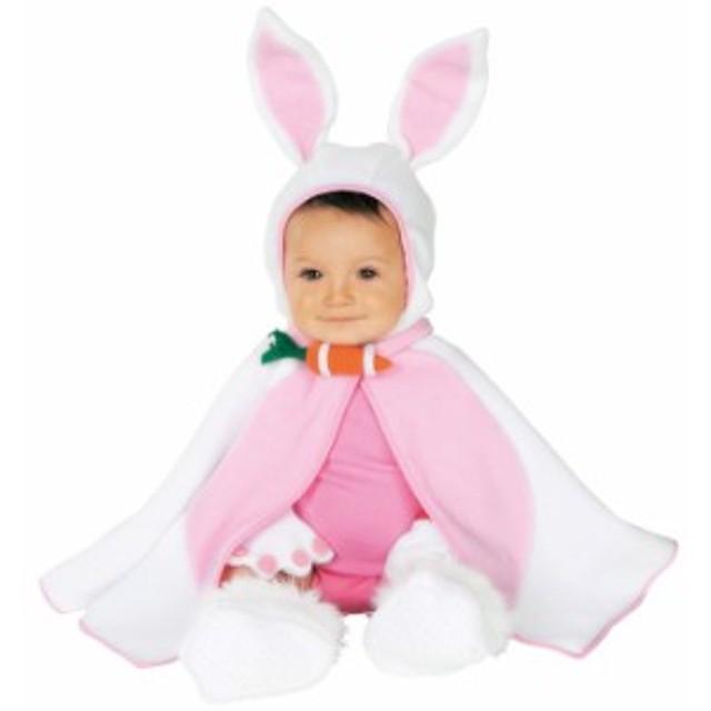 LIL BUNNY バニー うさぎ フード付きケープ 3点セット ベビーサイズ 子供 ハロウィン コスチューム コスプレ 衣装 RUBIES JAPAN 11742