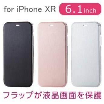 iPhone XR 6.1インチ 用 ケース カバー シェルカバー フラップ付 アイフォン テンアール エレコム PM-A18CPVF