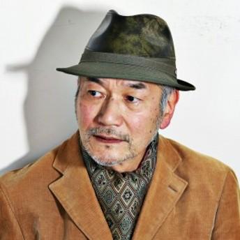 mila schon 帽子 ハット ミラ・ショーン フェイクレザーデザイン中折れハット 秋冬 モスグリーン