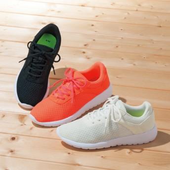 【格安-女性靴】レディース超軽量ダブルメッシュ素材スポーツスニーカー