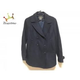 アンタイトル UNTITLED Pコート サイズ4 XL レディース ダークネイビー 冬物  値下げ 20190603